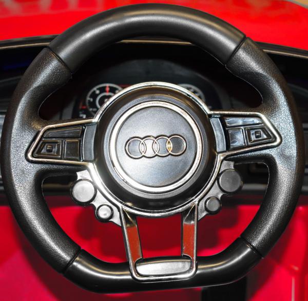Masinuta electrica Premier Audi R8 Spyder, 12V, roti cauciuc EVA, scaun piele ecologica, rosie 8