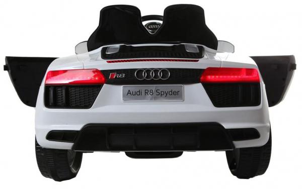 Masinuta electrica Premier Audi R8 Spyder, 12V, roti cauciuc EVA, scaun piele ecologica, alba [4]