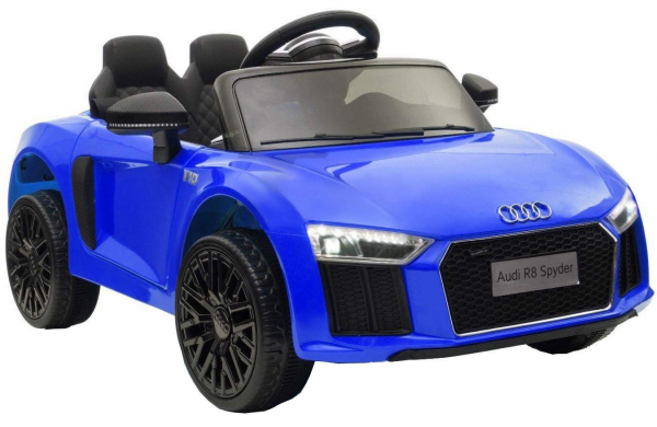Masinuta electrica Premier Audi R8 Spyder, 12V, roti cauciuc EVA, scaun piele ecologica, albastra [2]