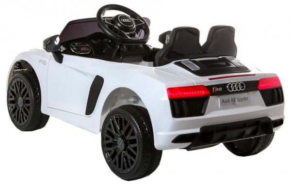 Masinuta electrica Premier Audi R8 Spyder, 12V, roti cauciuc EVA, scaun piele ecologica, alba [5]