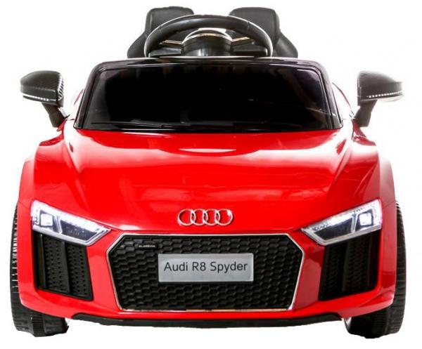 Masinuta electrica Premier Audi R8 Spyder, 12V, roti cauciuc EVA, scaun piele ecologica, rosie 1