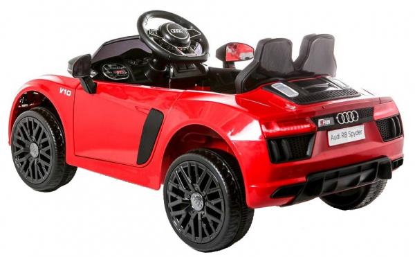 Masinuta electrica Premier Audi R8 Spyder, 12V, roti cauciuc EVA, scaun piele ecologica, rosie 4