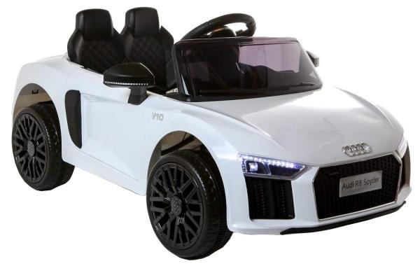 Masinuta electrica Premier Audi R8 Spyder, 12V, roti cauciuc EVA, scaun piele ecologica, alba [8]