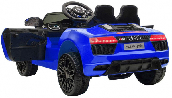 Masinuta electrica Premier Audi R8 Spyder, 12V, roti cauciuc EVA, scaun piele ecologica, albastra [3]