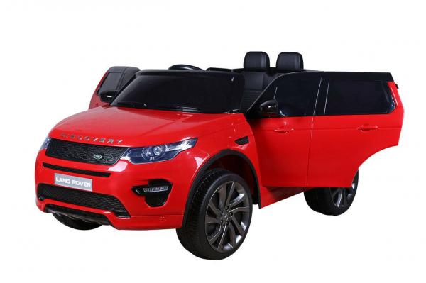 Masinuta electrica copii Land Rover Discovery cu soft start, 12V ,portiere, scaunel tapitat, roti cauciuc 4