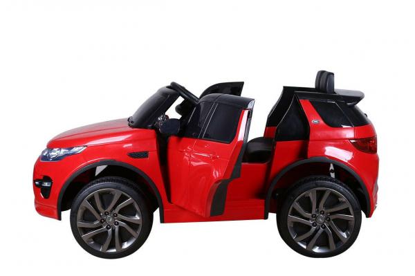 Masinuta electrica copii Land Rover Discovery cu soft start, 12V ,portiere, scaunel tapitat, roti cauciuc 9