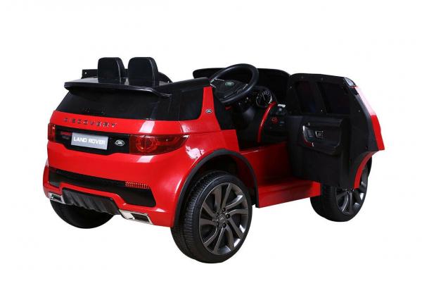 Masinuta electrica copii Land Rover Discovery cu soft start, 12V ,portiere, scaunel tapitat, roti cauciuc 6