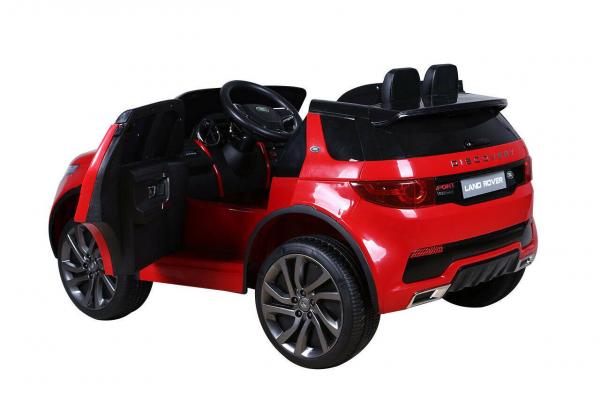 Masinuta electrica copii Land Rover Discovery cu soft start, 12V ,portiere, scaunel tapitat, roti cauciuc 8