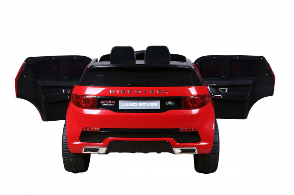 Masinuta electrica copii Land Rover Discovery cu soft start, 12V ,portiere, scaunel tapitat, roti cauciuc 5