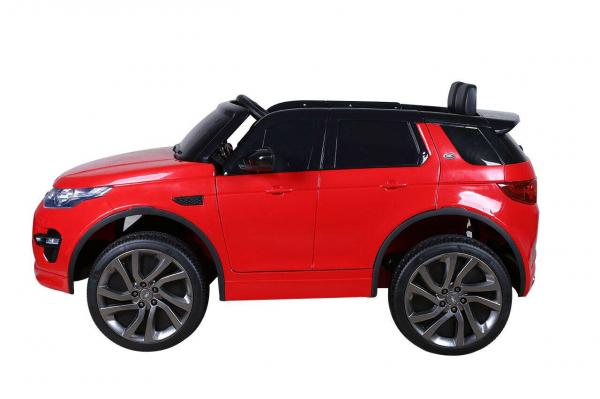 Masinuta electrica copii Land Rover Discovery cu soft start, 12V ,portiere, scaunel tapitat, roti cauciuc 10