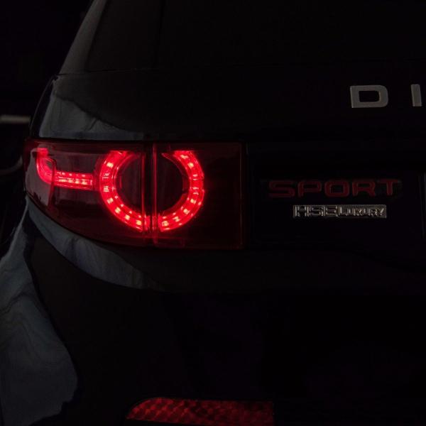 Masinuta electrica copii Land Rover Discovery cu soft start, 12V ,portiere, scaunel tapitat, roti cauciuc 11