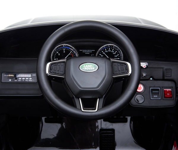 Masinuta electrica copii Land Rover Discovery cu soft start, 12V ,portiere, scaunel tapitat, roti cauciuc 13
