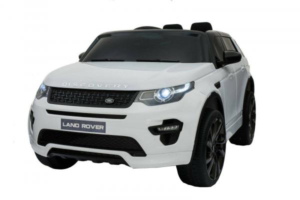 Masinuta electrica copii Land Rover Discovery cu soft start, 12V ,portiere, scaunel tapitat, roti cauciuc 0