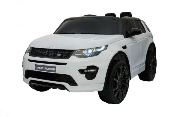 Masinuta electrica copii Land Rover Discovery cu soft start, 12V ,portiere, scaunel tapitat, roti cauciuc 1