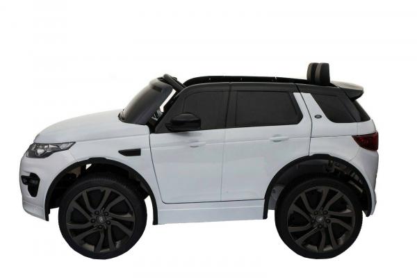 Masinuta electrica copii Land Rover Discovery cu soft start, 12V ,portiere, scaunel tapitat, roti cauciuc 3