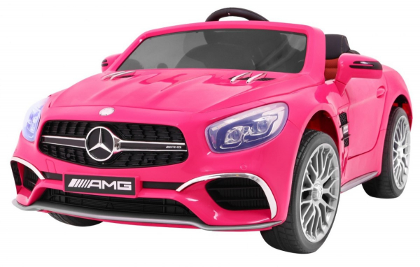 Masinuta electrica Premier Mercedes SL65 AMG, 12V, roti cauciuc EVA, scaun piele ecologica 0