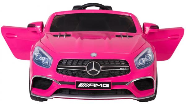 Masinuta electrica Premier Mercedes SL65 AMG, 12V, roti cauciuc EVA, scaun piele ecologica 5