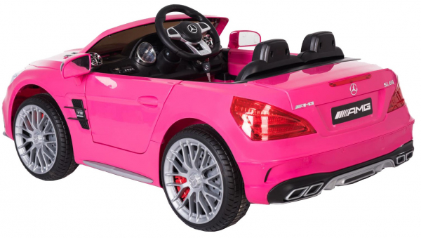 Masinuta electrica Premier Mercedes SL65 AMG, 12V, roti cauciuc EVA, scaun piele ecologica 2
