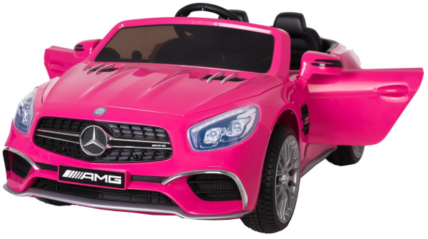Masinuta electrica Premier Mercedes SL65 AMG, 12V, roti cauciuc EVA, scaun piele ecologica 4