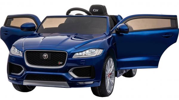 Masinuta electrica Premier Jaguar F-Pace, 12V, roti cauciuc EVA, scaun piele ecologica, albastra 5