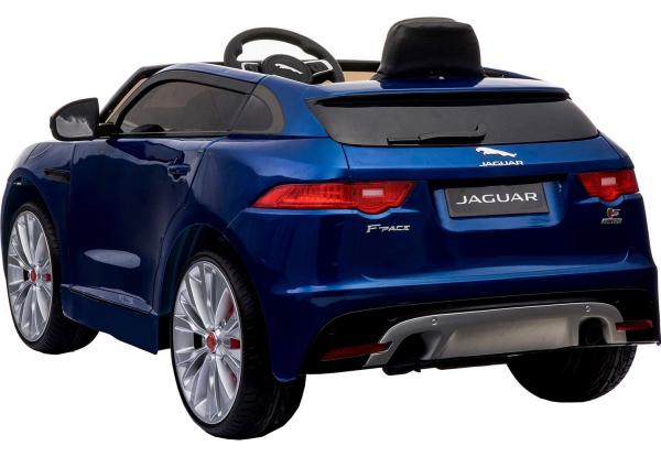 Masinuta electrica Premier Jaguar F-Pace, 12V, roti cauciuc EVA, scaun piele ecologica, albastra 12