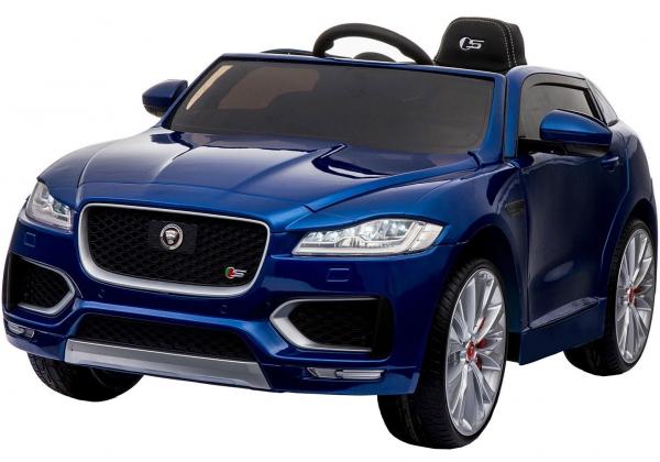 Masinuta electrica Premier Jaguar F-Pace, 12V, roti cauciuc EVA, scaun piele ecologica, albastra 0