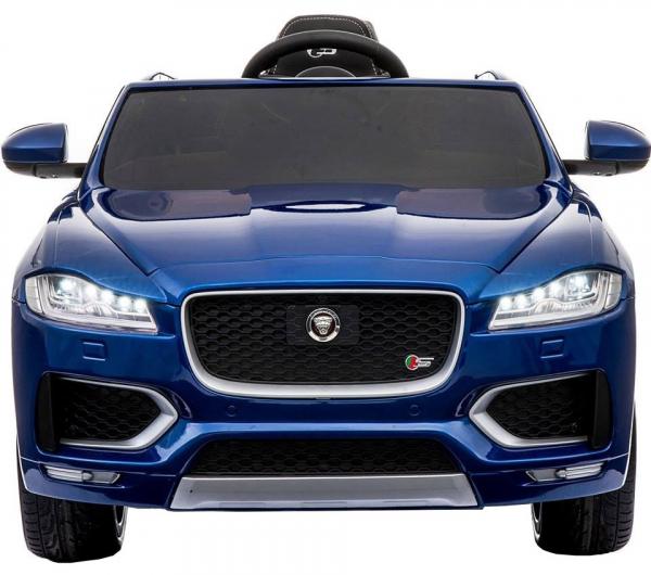 Masinuta electrica Premier Jaguar F-Pace, 12V, roti cauciuc EVA, scaun piele ecologica, albastra 8
