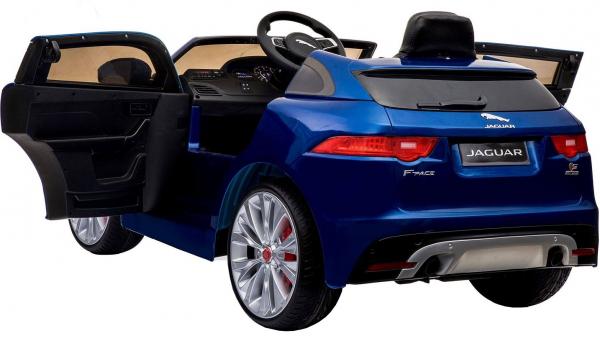 Masinuta electrica Premier Jaguar F-Pace, 12V, roti cauciuc EVA, scaun piele ecologica, albastra 2