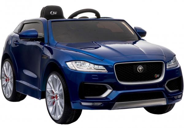 Masinuta electrica Premier Jaguar F-Pace, 12V, roti cauciuc EVA, scaun piele ecologica, albastra 6