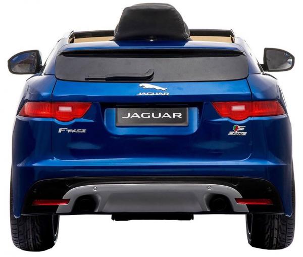 Masinuta electrica Premier Jaguar F-Pace, 12V, roti cauciuc EVA, scaun piele ecologica, albastra 9