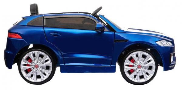 Masinuta electrica Premier Jaguar F-Pace, 12V, roti cauciuc EVA, scaun piele ecologica, albastra 1