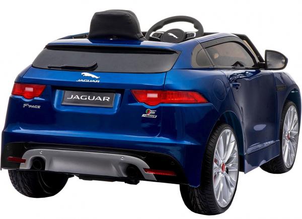 Masinuta electrica Premier Jaguar F-Pace, 12V, roti cauciuc EVA, scaun piele ecologica, albastra 11