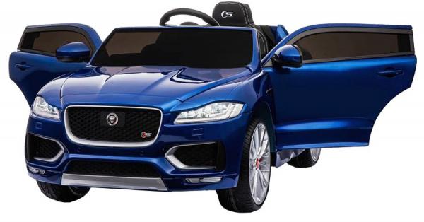 Masinuta electrica Premier Jaguar F-Pace, 12V, roti cauciuc EVA, scaun piele ecologica, albastra 7