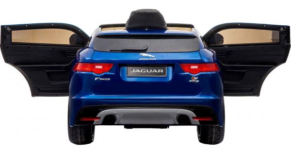 Masinuta electrica Premier Jaguar F-Pace, 12V, roti cauciuc EVA, scaun piele ecologica, albastra 4