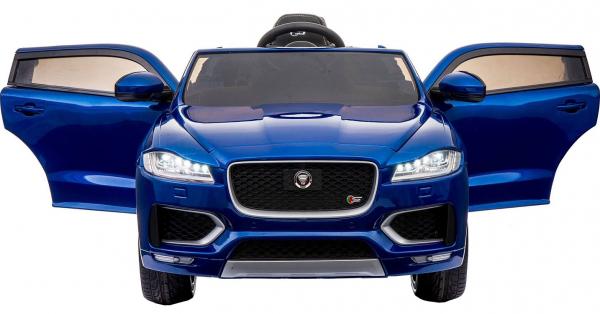 Masinuta electrica Premier Jaguar F-Pace, 12V, roti cauciuc EVA, scaun piele ecologica, albastra 3
