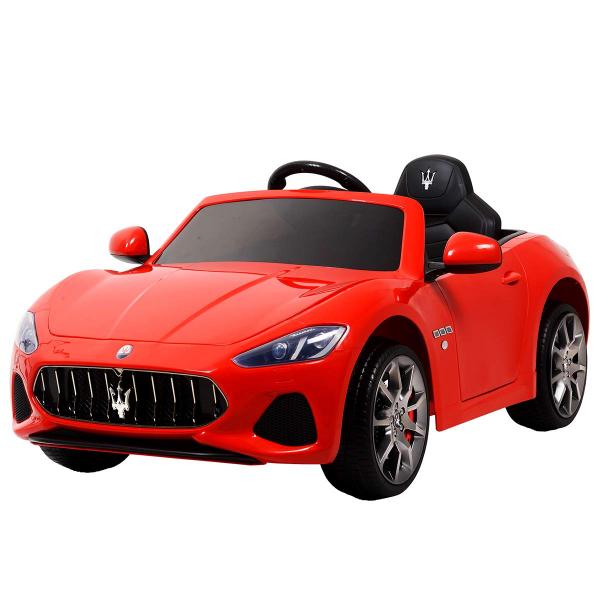 Masinuta electrica Maserati Grancabrio cu power display, sistem troller, roti cauciuc, scaunel din piele 0
