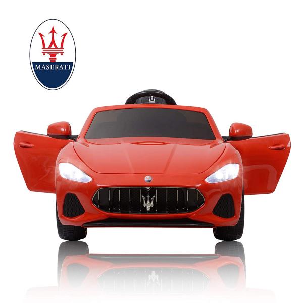 Masinuta electrica Maserati Grancabrio cu power display, sistem troller, roti cauciuc, scaunel din piele 7