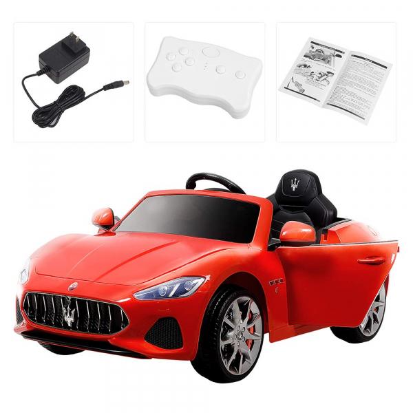Masinuta electrica Maserati Grancabrio cu power display, sistem troller, roti cauciuc, scaunel din piele 6