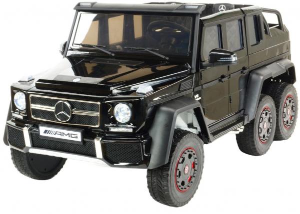 Masinuta electrica Mercedes G63 Duet 6x6, 12V, 6 roti cauciuc EVA, 6 motoare, 2 locuri, scaun piele ecologica, negru 10