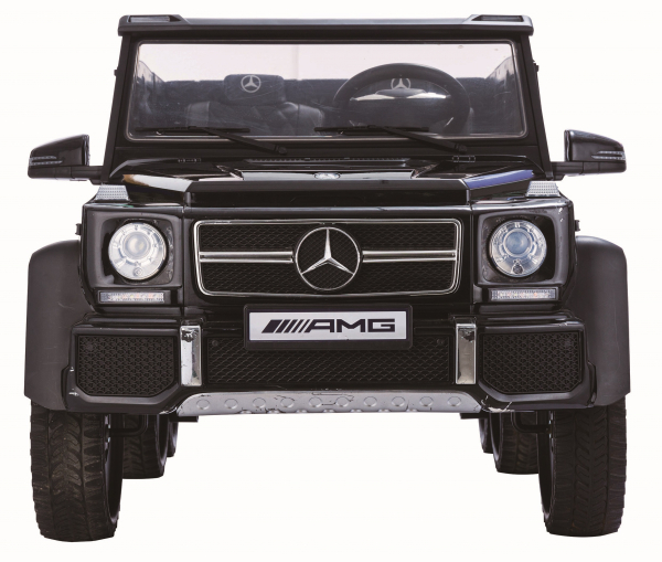 Masinuta electrica Mercedes G63 Duet 6x6, 12V, 6 roti cauciuc EVA, 6 motoare, 2 locuri, scaun piele ecologica, negru 2