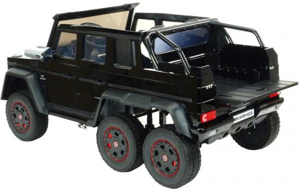 Masinuta electrica Mercedes G63 Duet 6x6, 12V, 6 roti cauciuc EVA, 6 motoare, 2 locuri, scaun piele ecologica, negru 15