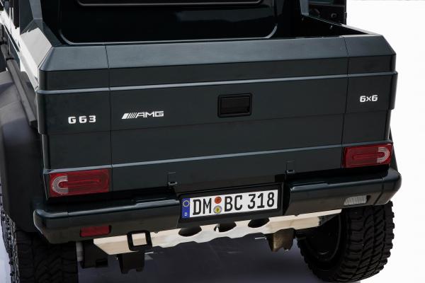 Masinuta electrica Mercedes G63 Solo, 2 baterii 12V, 6 roti cauciuc EVA, 4x4, 1 loc, 4 motoare, negru [29]