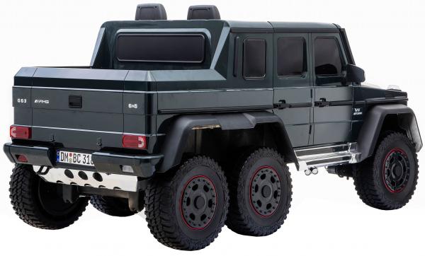 Masinuta electrica Mercedes G63 Solo, 2 baterii 12V, 6 roti cauciuc EVA, 4x4, 1 loc, 4 motoare, negru 8