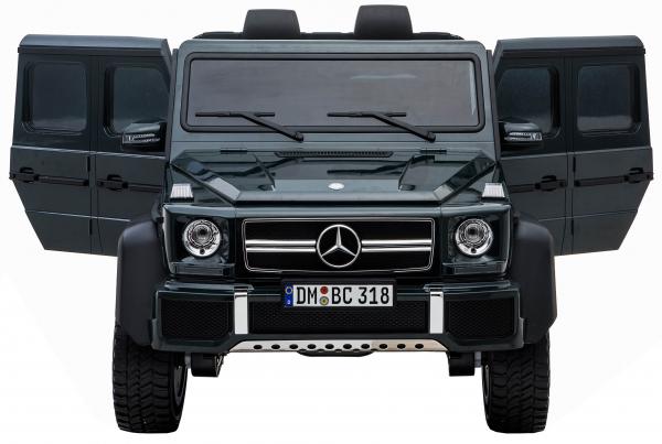 Masinuta electrica Mercedes G63 Solo, 2 baterii 12V, 6 roti cauciuc EVA, 4x4, 1 loc, 4 motoare, negru 11