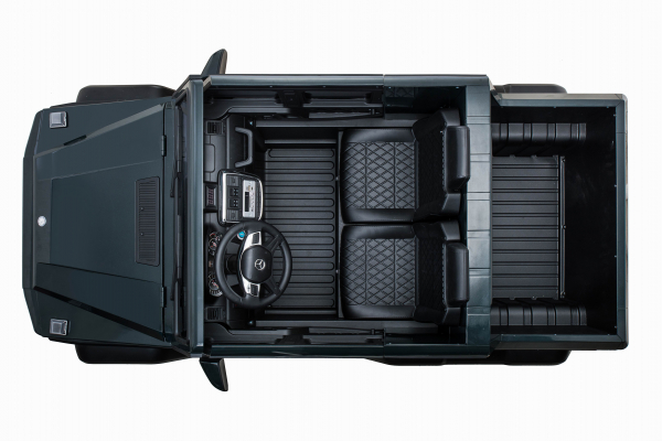 Masinuta electrica Mercedes G63 Solo, 2 baterii 12V, 6 roti cauciuc EVA, 4x4, 1 loc, 4 motoare, negru 34