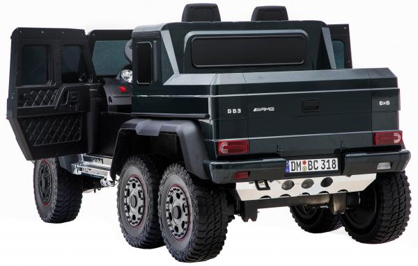 Masinuta electrica Mercedes G63 Solo, 2 baterii 12V, 6 roti cauciuc EVA, 4x4, 1 loc, 4 motoare, negru [15]
