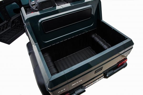 Masinuta electrica Mercedes G63 Solo, 2 baterii 12V, 6 roti cauciuc EVA, 4x4, 1 loc, 4 motoare, negru 28