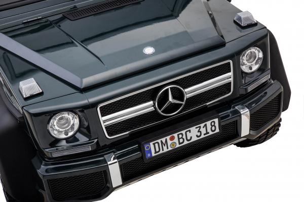 Masinuta electrica Mercedes G63 Solo, 2 baterii 12V, 6 roti cauciuc EVA, 4x4, 1 loc, 4 motoare, negru 21