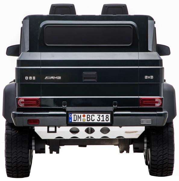 Masinuta electrica Mercedes G63 Solo, 2 baterii 12V, 6 roti cauciuc EVA, 4x4, 1 loc, 4 motoare, negru [7]