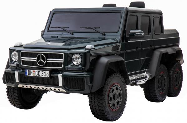 Masinuta electrica Mercedes G63 Solo, 2 baterii 12V, 6 roti cauciuc EVA, 4x4, 1 loc, 4 motoare, negru 3